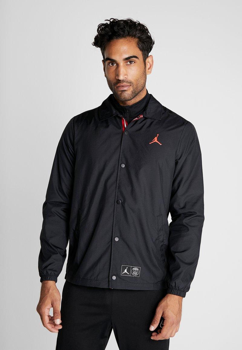 Nike Performance - PSG COACHES - Sportswear - black/infrared