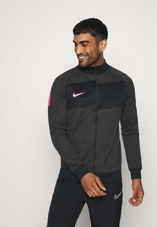 DRY ACADEMY - Training jacket - dark smoke grey/heather/hyper pink