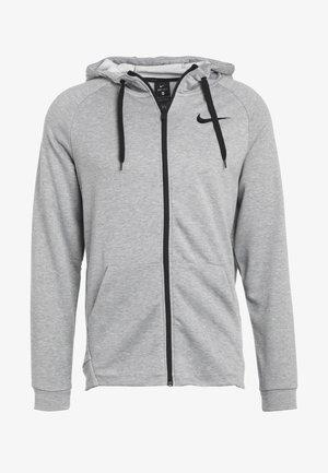 Zip-up hoodie - dark grey heather/black