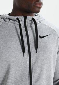 Nike Performance - Zip-up hoodie - dark grey heather/black - 3