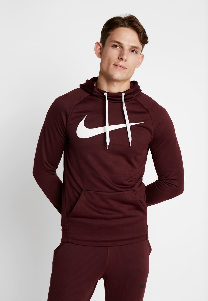 Nike Performance - DRY PO - Jersey con capucha - night maroon/burgundy ash/white