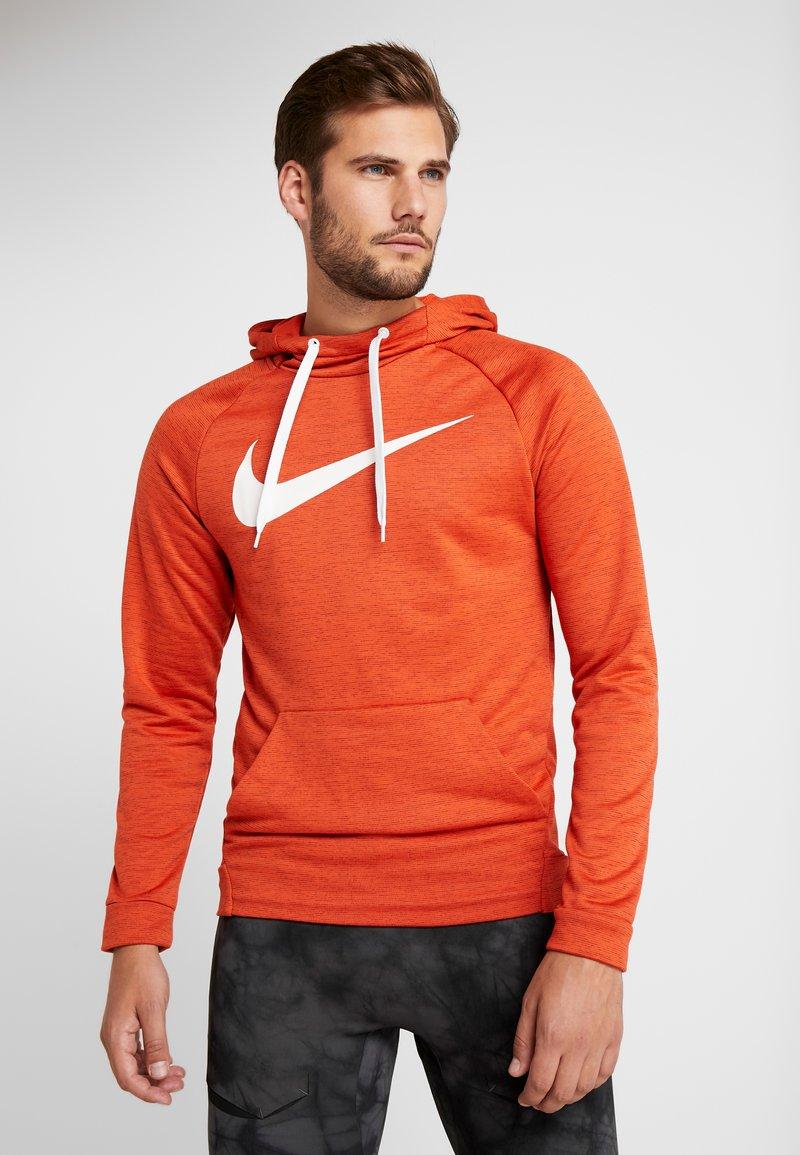 Nike Performance - DRY PO - Jersey con capucha - team orange/night maroon/heather/white