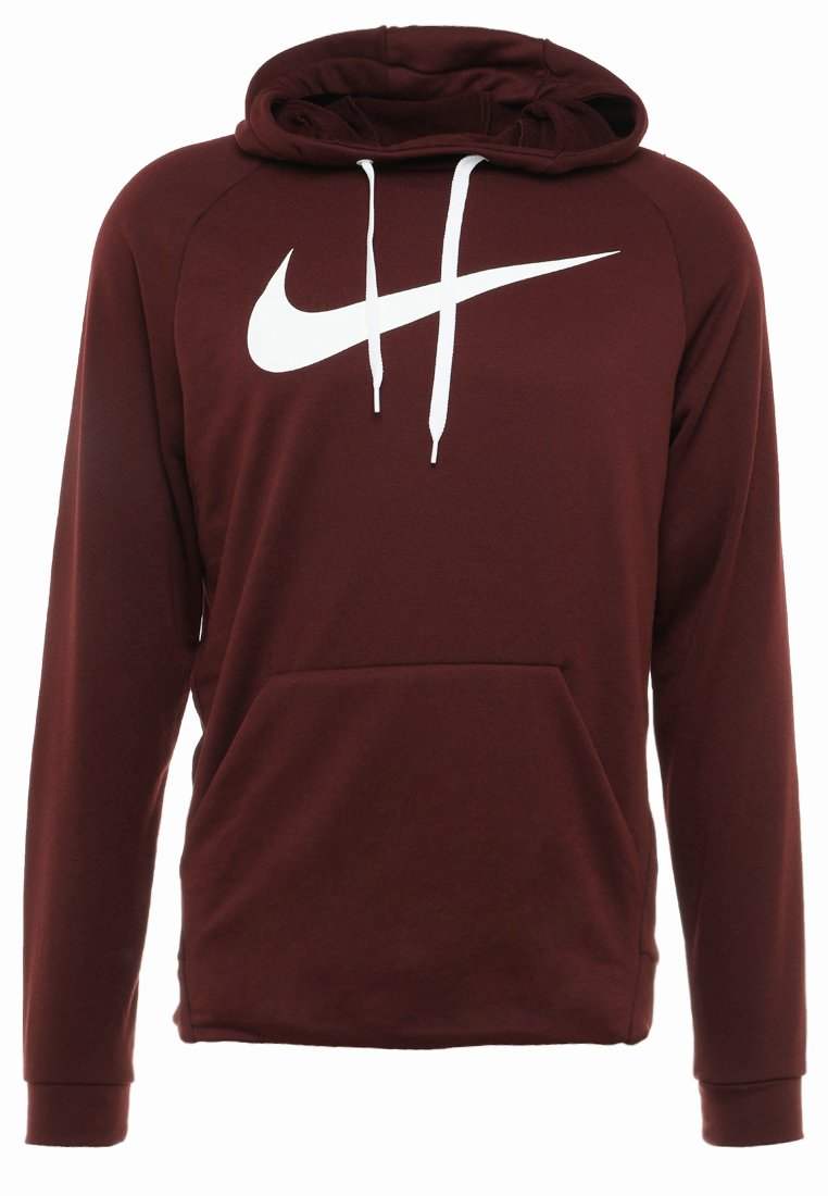 Nike Performance - DRY PO - Hoodie - burgundy crush/white