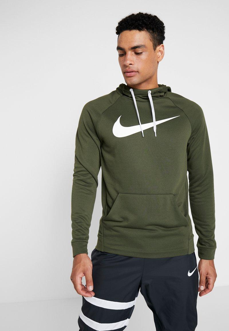 Nike Performance - DRY HOODIE - Sweat à capuche - cargo khaki/white