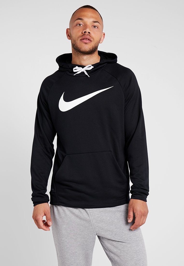 Nike Performance - DRY HOODIE - Bluza z kapturem - black/white