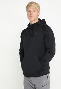 Nike Performance - Kapuzenpullover - black/dark grey - 0