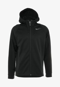 Nike Performance - THERMA  - Bluza rozpinana - black/dark grey - 4