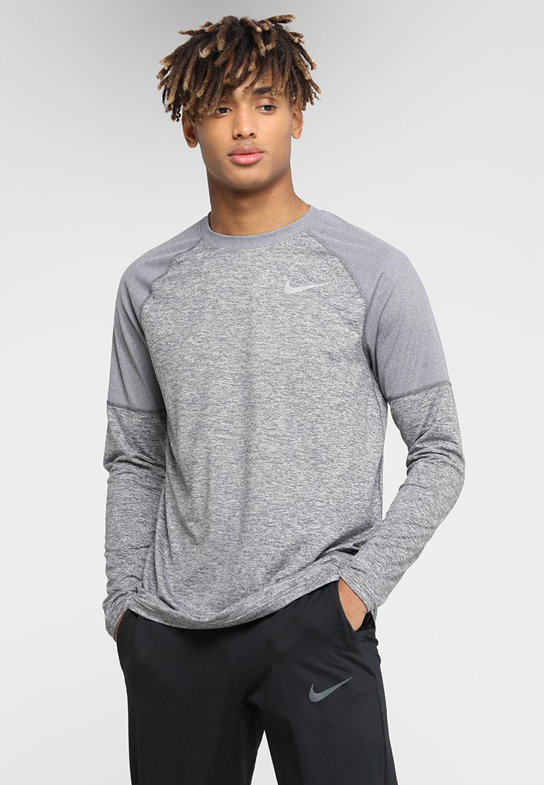 Nike Performance - CREW - Sportshirt - dark grey/heather