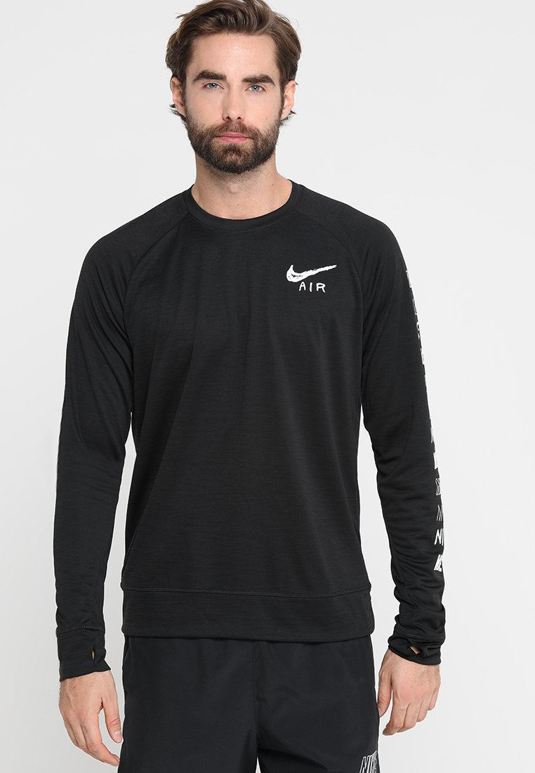 Nike Performance - PACER PLUS CREW - Bluza - black/white/silver