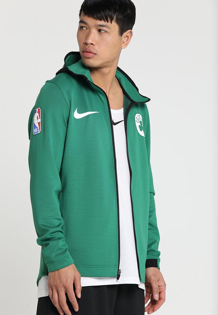 Nike Performance - NBA BOSTON CELTICS THERMAFLEX SHOWTIME HOODY FULL ZIP - Giacca sportiva - clover/black/white