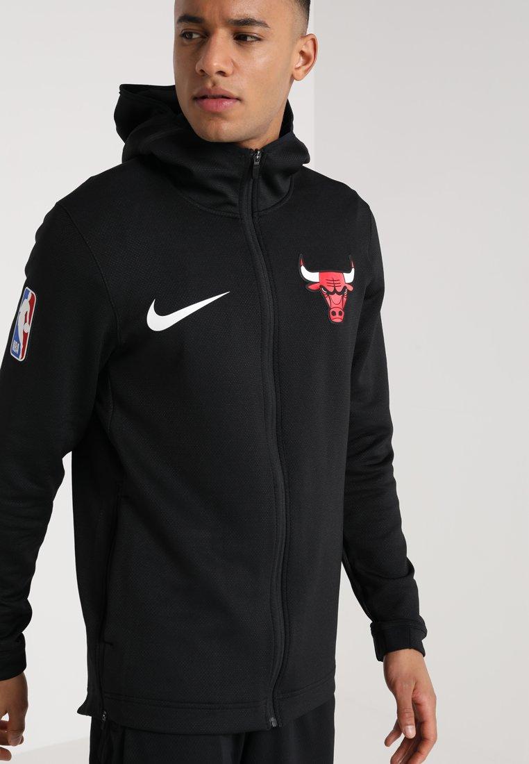Nike Performance - NBA CHICAGO BULLS THERMAFLEX SHOWTIME HOODY FULL ZIP - Training jacket - white /black/anthracite
