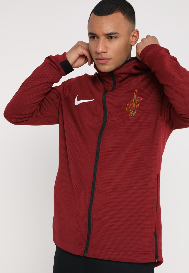 Nike Performance - NBA CLEVELAND CAVALIERS THERMAFLEX SHOWTIME HOODY FULL ZIP - Training jacket - team red/black/white