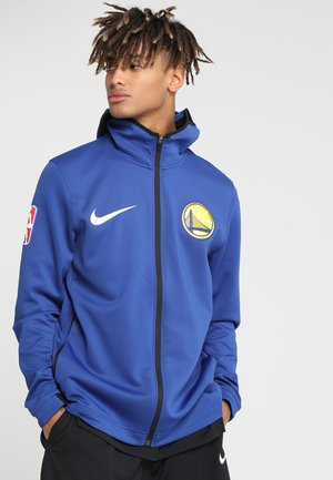 NBA GOLDEN STATE WARRIORS HOODY  FULL ZIP - Hettejakke - rush blue/black/white/