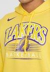 Nike Performance - NBA LA LAKERS HOODY CREST - Equipación de clubes - amarillo