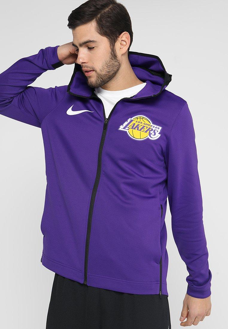 Nike Performance - NBA LA LAKERS THERMAFLEX SHOWTIME HOODY FULL ZIP - Verryttelytakki - field purple/black/white