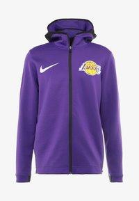Nike Performance - NBA LA LAKERS THERMAFLEX SHOWTIME HOODY FULL ZIP - Giacca sportiva - field purple/black/white - 3