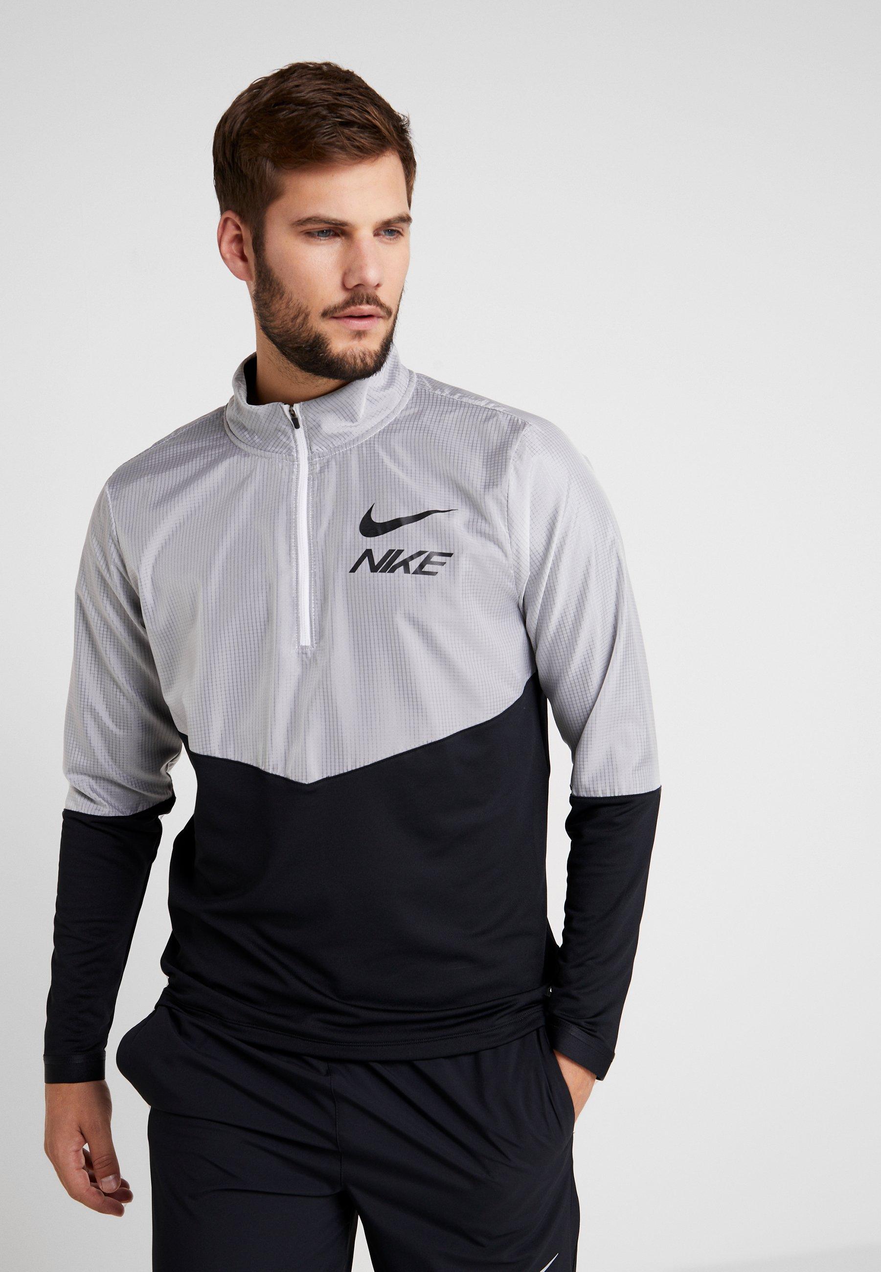 reflective Black Performance Top HybridSweatshirt Nike Silver u1cTFJlK3