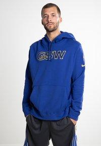 Nike Performance - GOLDEN STATE WARRIORS - Kapuzenpullover - blue - 0