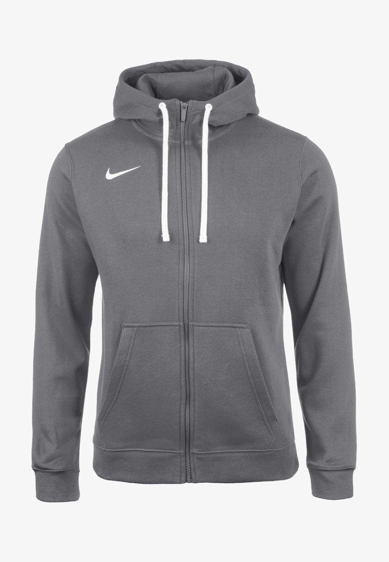 Nike Performance - CLUB19 HERREN - Zip-up hoodie - charcoal heather / anthracite white