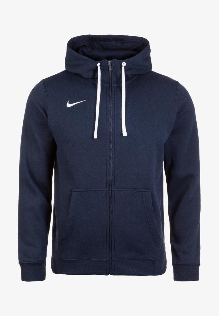Nike Performance - CLUB19 HERREN - Zip-up hoodie - obsidian / white