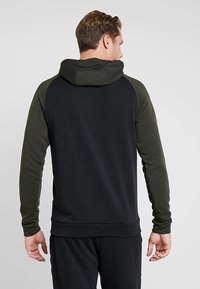 Nike Performance - DRY HOODIE - Jersey con capucha - black/sequoia/electric green/habanero red - 2