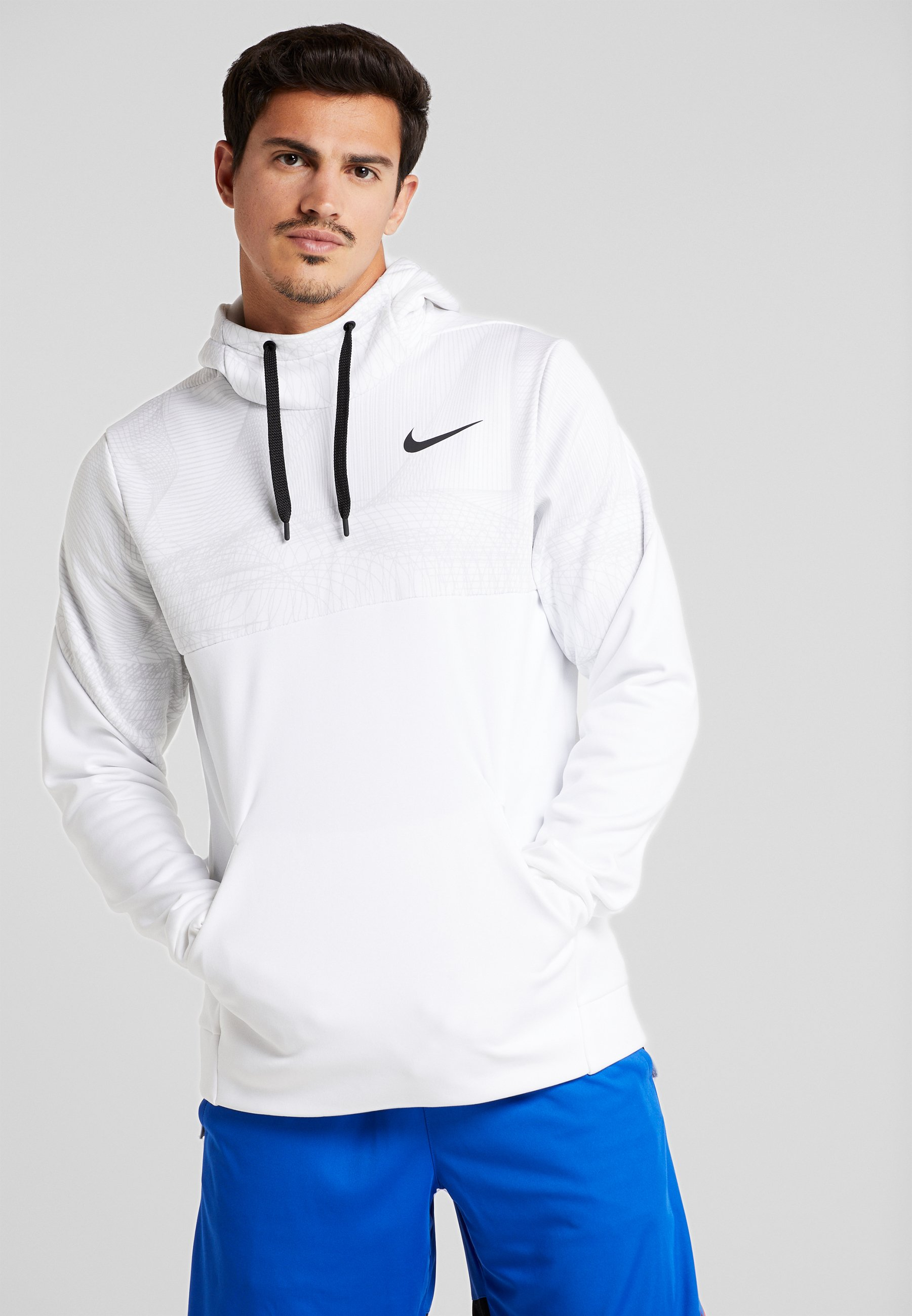 Nike Performance THERMA - Sweat à capuche white/black