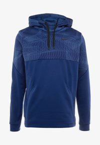 Nike Performance - THERMA - Jersey con capucha - blue void/black - 5