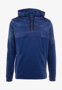 Nike Performance - THERMA - Felpa con cappuccio - blue void/black - 5