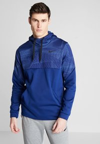 Nike Performance - THERMA - Jersey con capucha - blue void/black - 0