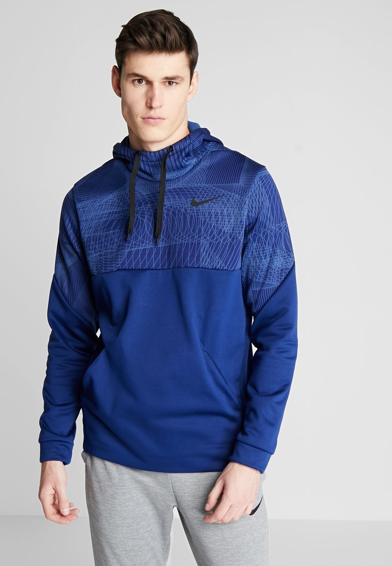 Nike Performance - THERMA - Jersey con capucha - blue void/black