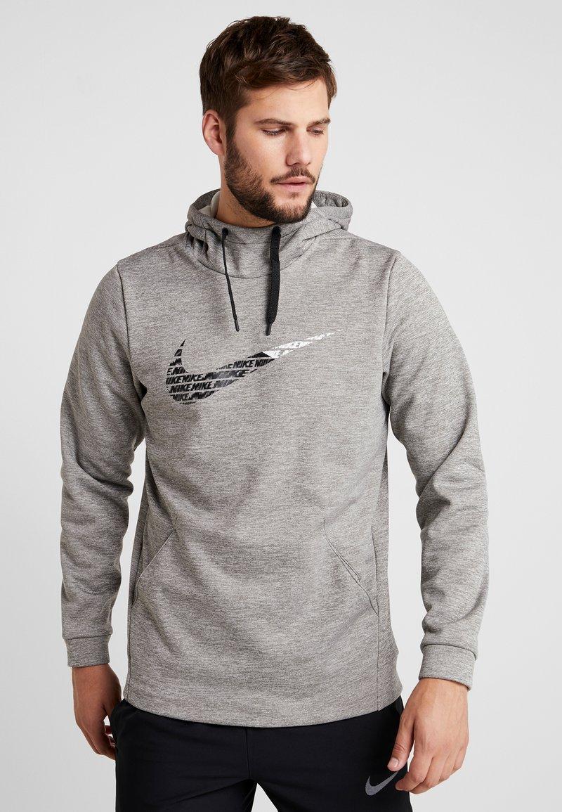 Nike Performance - THERMA  - Jersey con capucha - grey heather