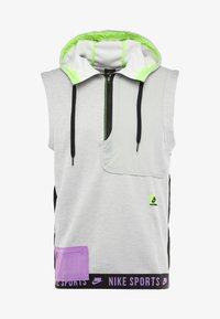 Nike Performance - THERMA SL - Vesta - grey heather/light smoke grey/bright violet - 5