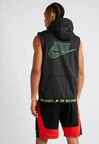 Nike Performance - THERMA SL - Waistcoat - black heather/black/electric green - 2