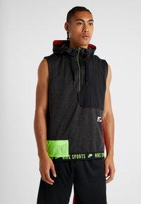 Nike Performance - THERMA SL - Waistcoat - black heather/black/electric green - 0