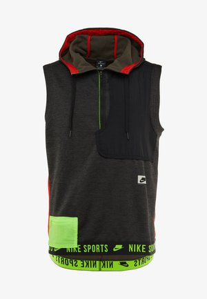 THERMA SL - Waistcoat - black heather/black/electric green