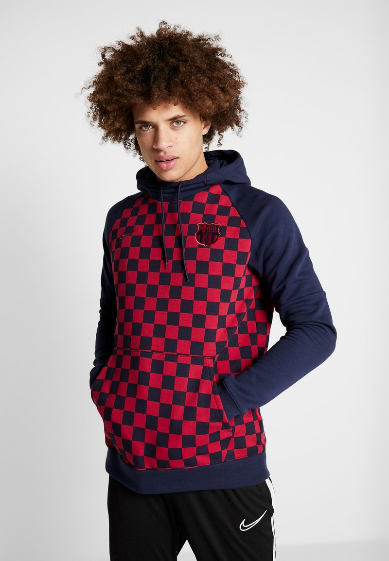 Nike Performance - FC BARCELONA HOOD - Jersey con capucha - obsidian/noble red