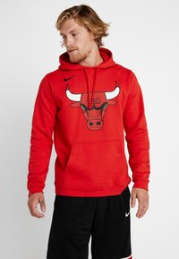 Nike Performance - NBA CHICAGO BULLS LOGO HOODIE - Club wear - university red - 0