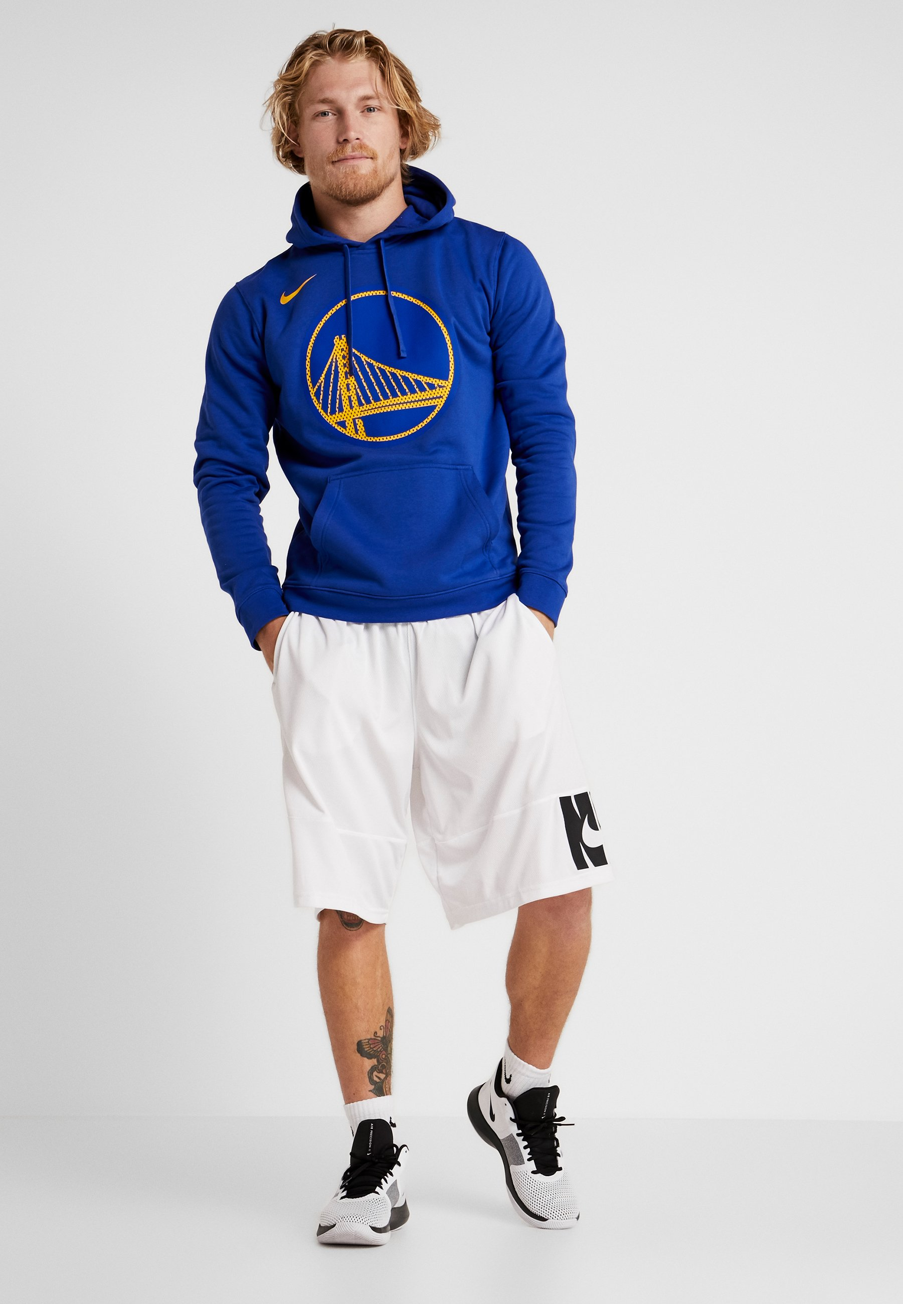 NBA GOLDEN STATE WARRIORS LOGO HOODIE Fanartikel rush blue