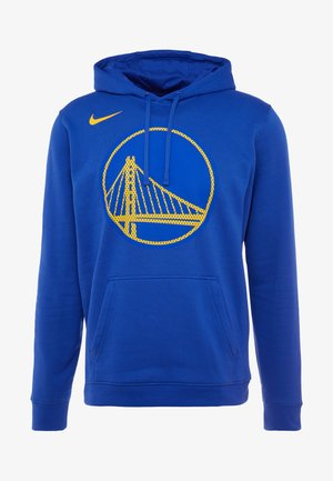 NBA GOLDEN STATE WARRIORS LOGO HOODIE - Klubbklær - rush blue