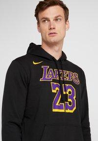 Nike Performance - NBA LA LAKERS LEBRON JAMES HOODIE - Klubové oblečení - black - 4