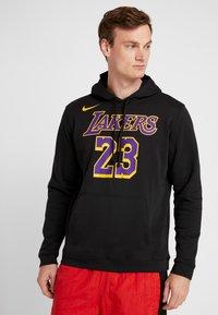 Nike Performance - NBA LA LAKERS LEBRON JAMES HOODIE - Klubové oblečení - black - 0