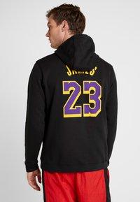 Nike Performance - NBA LA LAKERS LEBRON JAMES HOODIE - Klubové oblečení - black - 2