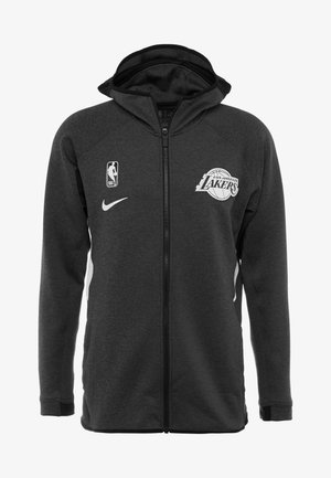NBA LOS ANGELES LAKERS THERMAFLEX - Giacca sportiva - black heather/cool grey/white