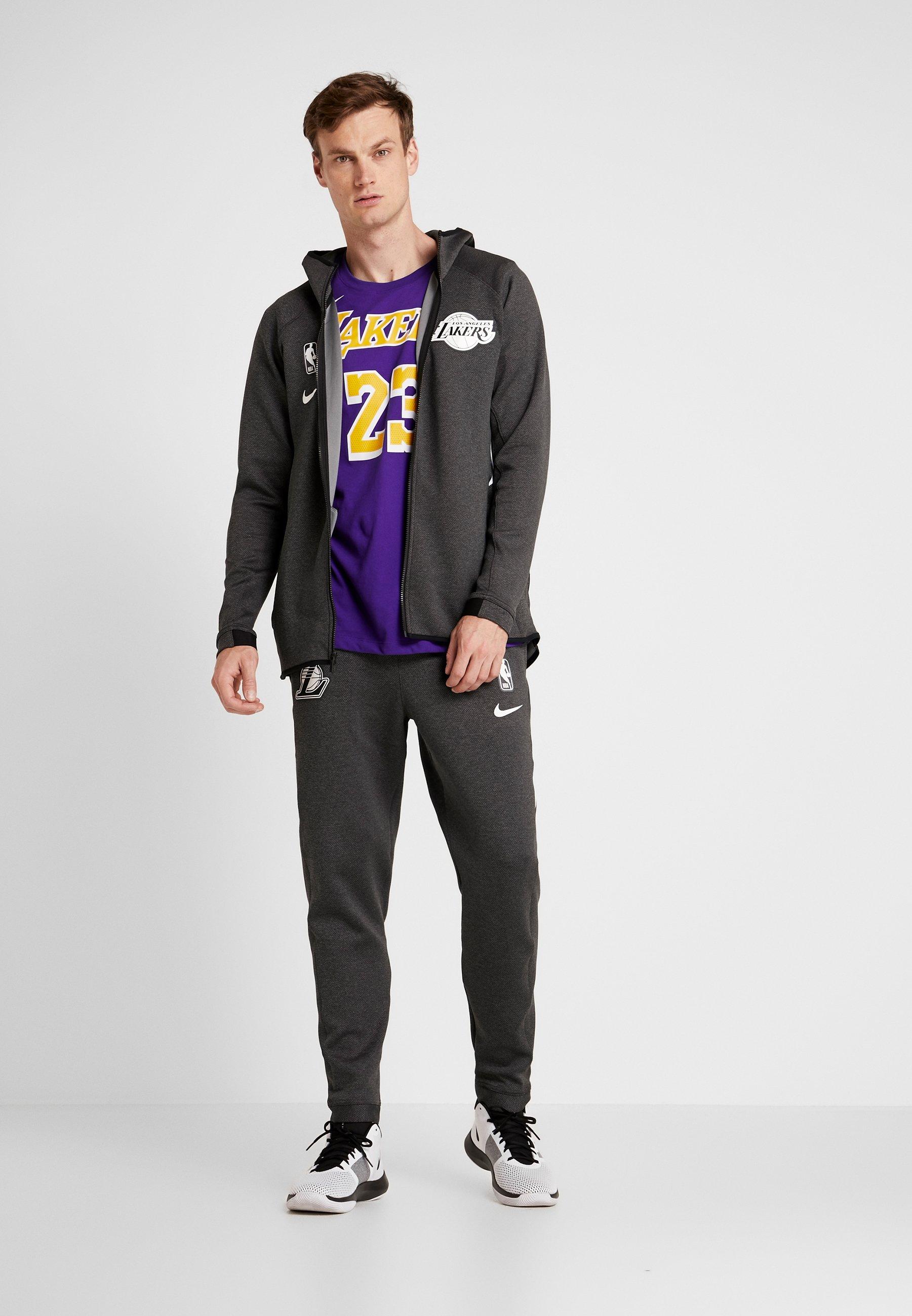 Nike Performance Nba Los Angeles Lakers Thermaflex - Veste De Survêtement Black Heather/cool Grey/white