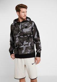 Nike Performance - NBA LA LAKERS CAMO HOODIE - Club wear - cool grey/black - 0
