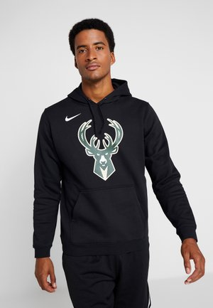 NBA MILWAUKEE BUCKS LOGO HOODIE - Club wear - black