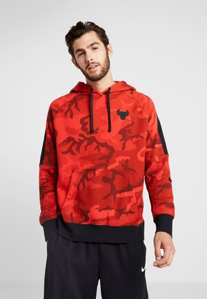 NBA CHICAGO BULLS CAMO HOODIE - Hoodie - university red/black