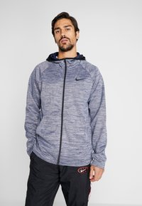 Nike Performance - SPOTLIGHT HOODIE - Zip-up hoodie - college navy/heather - 0