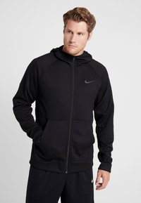 Nike Performance - SPOTLIGHT HOODIE - Zip-up hoodie - black/anthracite - 0