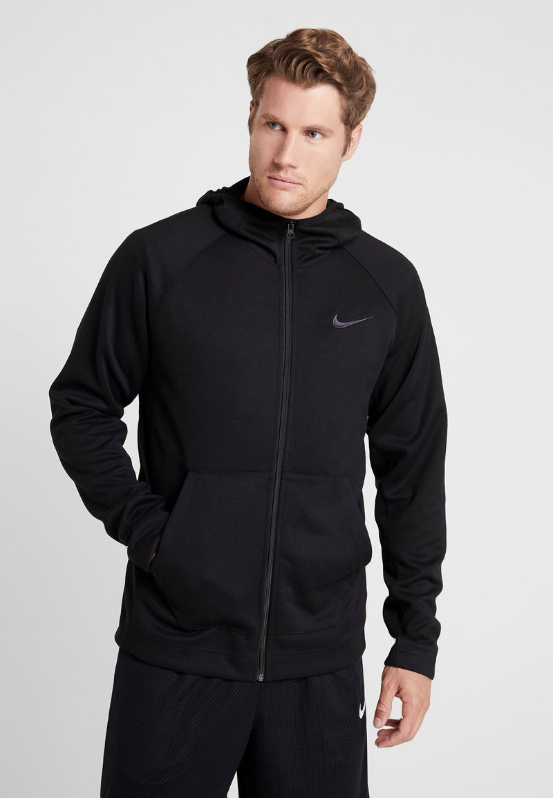 Nike Performance - SPOTLIGHT HOODIE - Zip-up hoodie - black/anthracite